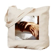 Elderly woman with osteoarthritis - Tote Bag
