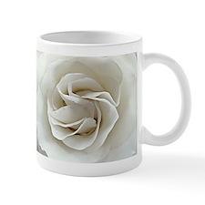 Swirling White Rose Mug
