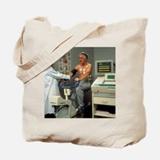 ECG stress test on male patient - Tote Bag