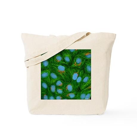 HeLa cells, light micrograph - Tote Bag