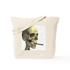 Smoking skeleton - Tote Bag