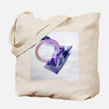 Rolled-up condom - Tote Bag