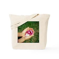 Flower held in hands - Tote Bag