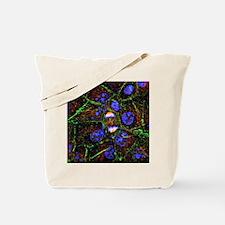 Mitosis, fluorescence micrograph - Tote Bag