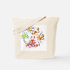 Insulin molecule, computer artwork - Tote Bag