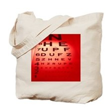 View of a Snellen eye test chart - Tote Bag