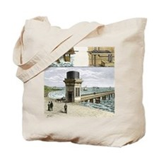 19th-century wave power - Tote Bag