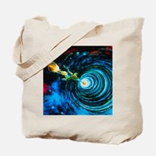 Artwork of Bussard RamScoop starship - Tote Bag