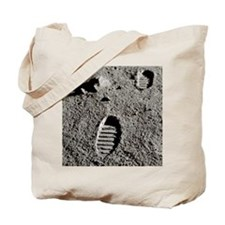 Astronaut footprints on the Moon - Tote Bag