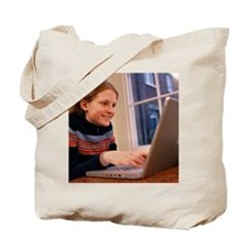 Laptop computer use - Tote Bag