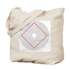Ehrenstein illusion, square in circles - Tote Bag
