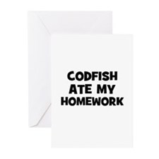 Codfish Ate My Homework Greeting Cards (Package of