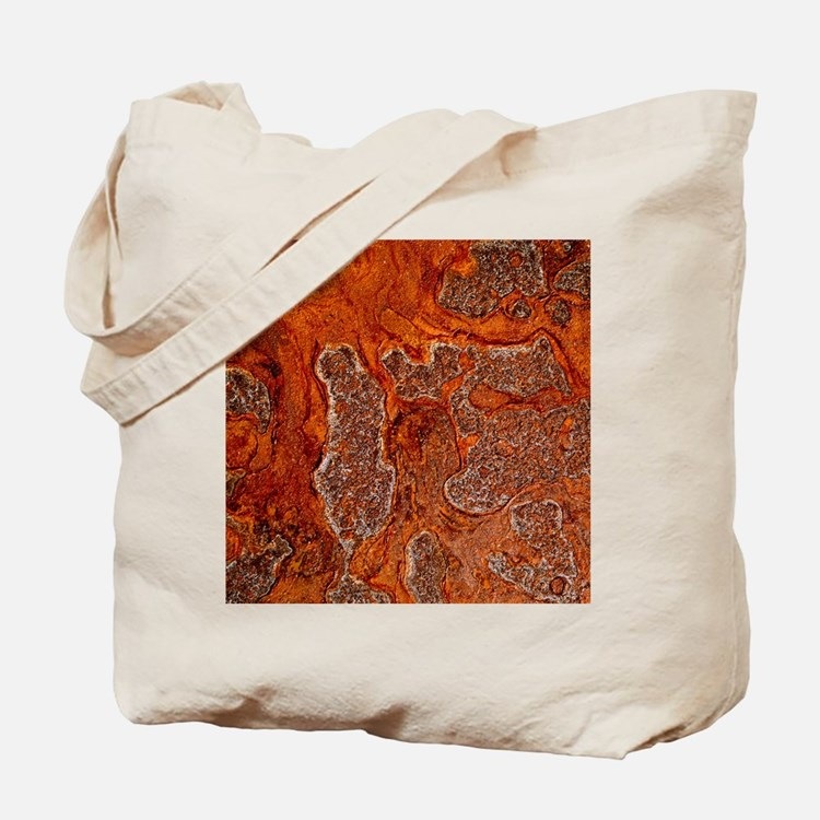 Rust seen on a steel sheet - Tote Bag