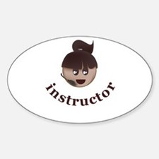 Instructor (Christine) Oval Decal