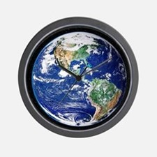 Earth from space, satellite image - Wall Clock