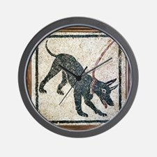Roman guard dog mosaic - Wall Clock