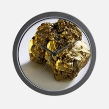 Iron pyrite - Wall Clock