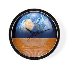 Solar power satellite, artwork - Wall Clock