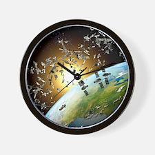 Space junk, conceptual artwork - Wall Clock