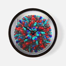 Bluetongue virus, artwork - Wall Clock