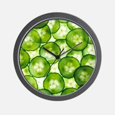 Cucumber slices - Wall Clock