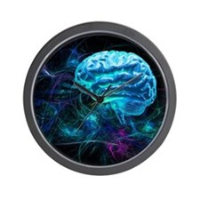 Brain research, conceptual artwork - Wall Clock