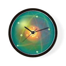 Atomic structure, conceptual artwork - Wall Clock