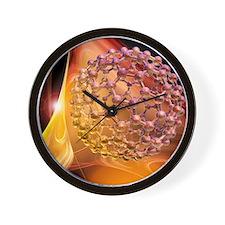 Buckyball molecule, artwork - Wall Clock