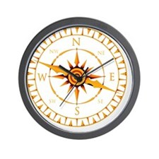 Compass rose - Wall Clock