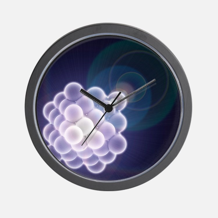 Platinum crystal, molecular model - Wall Clock