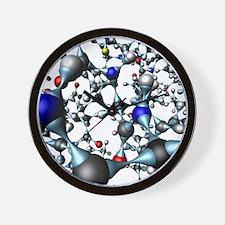 Insulin molecule, close-up view - Wall Clock