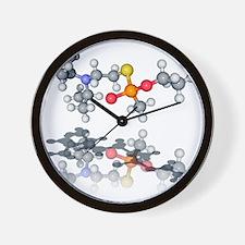 VX nerve agent molecule - Wall Clock