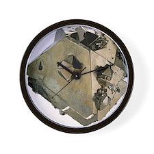 Iron pyrite crystal - Wall Clock