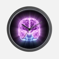 Human brain,computer artwork - Wall Clock