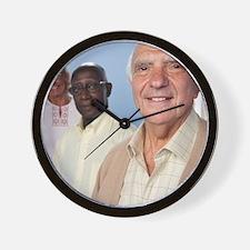 Happy elderly people - Wall Clock
