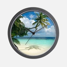 Tropical beach - Wall Clock