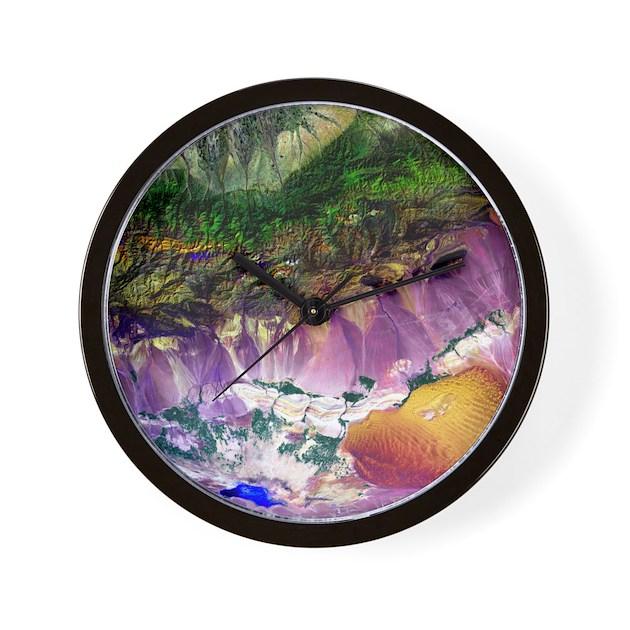 Turpan Depression Satellite Image Wall Clock By