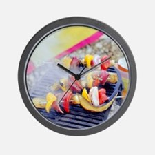 Barbecuing vegetables - Wall Clock