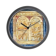 The Nile, 2nd century Roman carving - Wall Clock