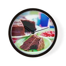 Chocolate cake - Wall Clock