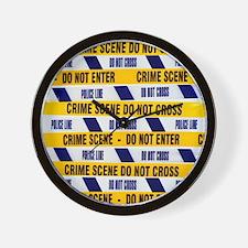 Crime scene tape - Wall Clock