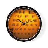 Eye chart Wall Clocks