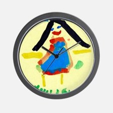 Child's painting - Wall Clock