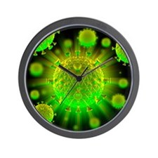 HIV particles - Wall Clock