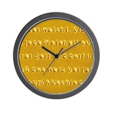 Polymer poem written with an AFM - Wall Clock