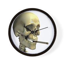 Smoking skeleton - Wall Clock