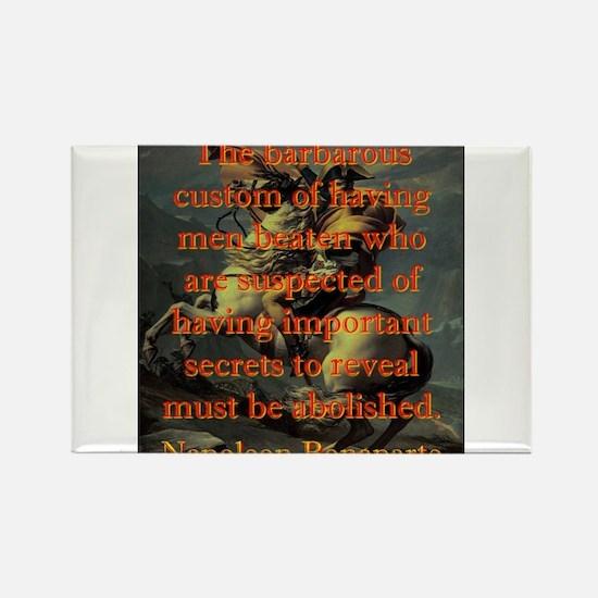 The Barbarous Custom - Napoleon Magnets