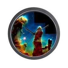 Gas pillars in Eagle Nebula - Wall Clock