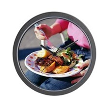 Eating a meal - Wall Clock