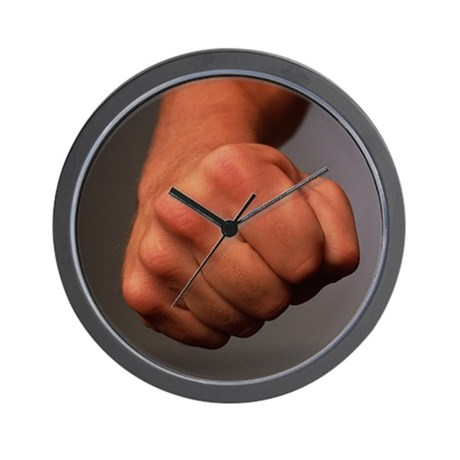Clenched fist - Wall Clock